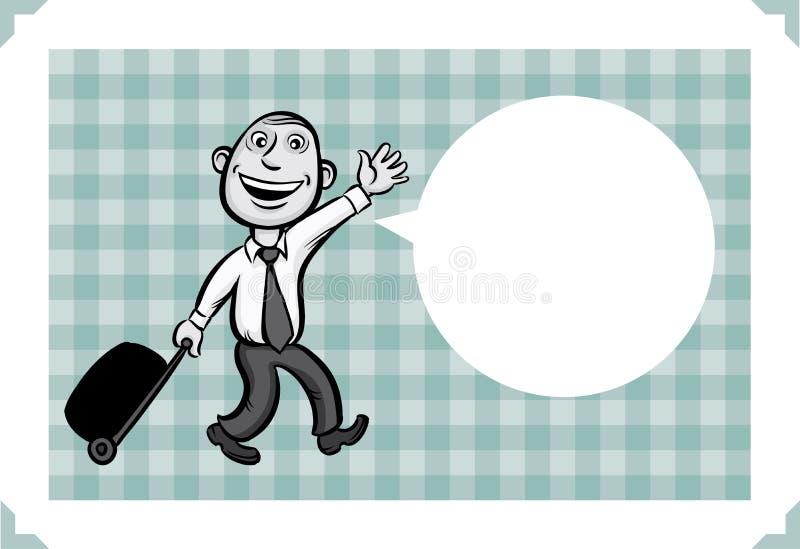 Cartolina d'auguri con l'uomo d'affari che va vacation royalty illustrazione gratis