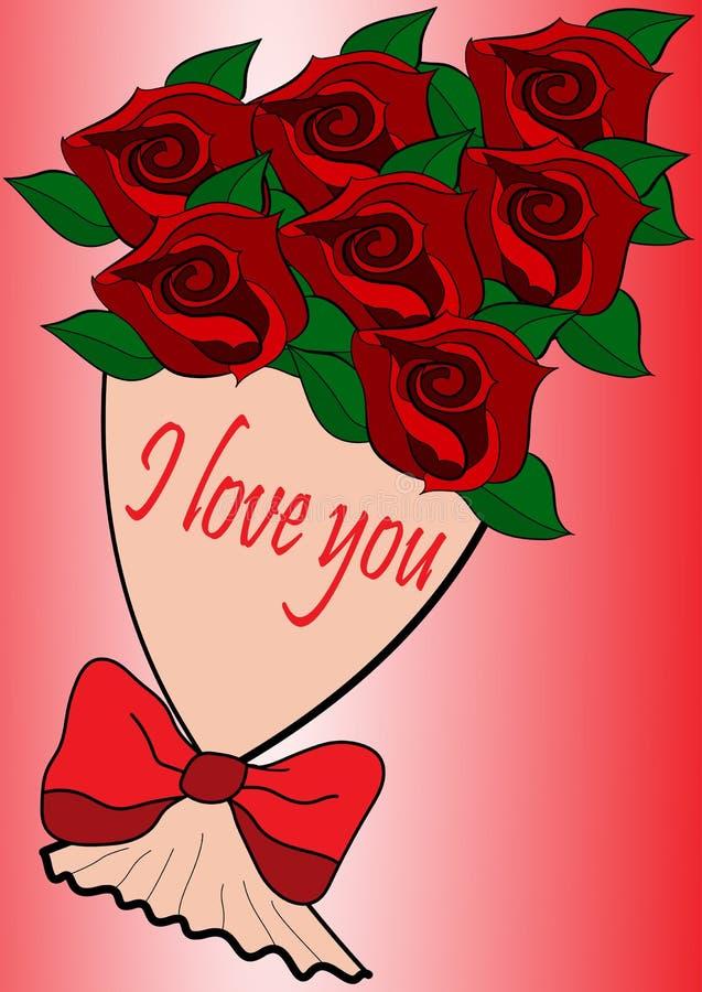 Cartolina d'auguri con una dichiarazione di amore royalty illustrazione gratis