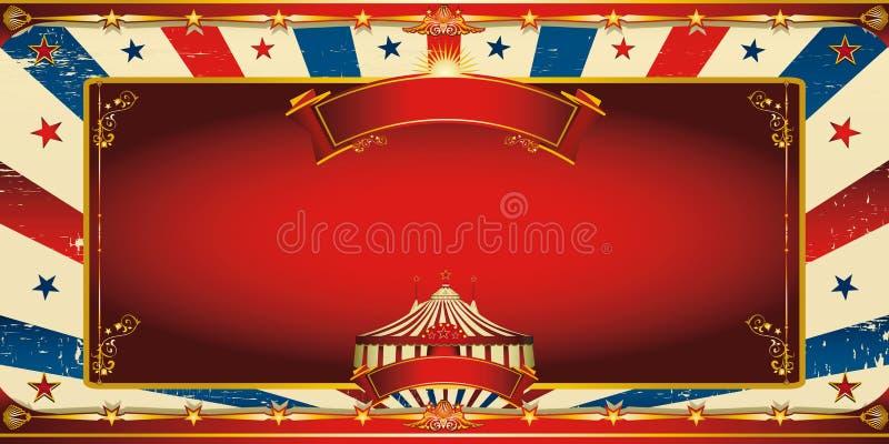 Cartolina d'auguri d'annata piacevole del circo illustrazione vettoriale