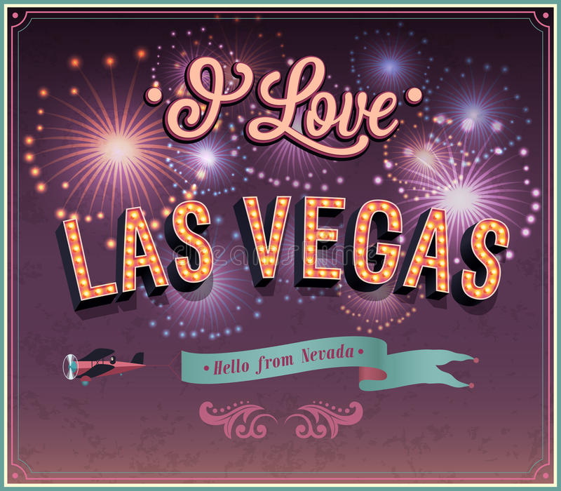 Cartolina d'auguri da Las Vegas - il Nevada. royalty illustrazione gratis