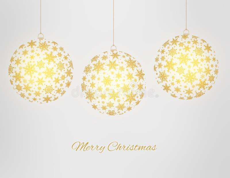 Cartolina d'auguri decorativa di Buon Natale fotografia stock libera da diritti
