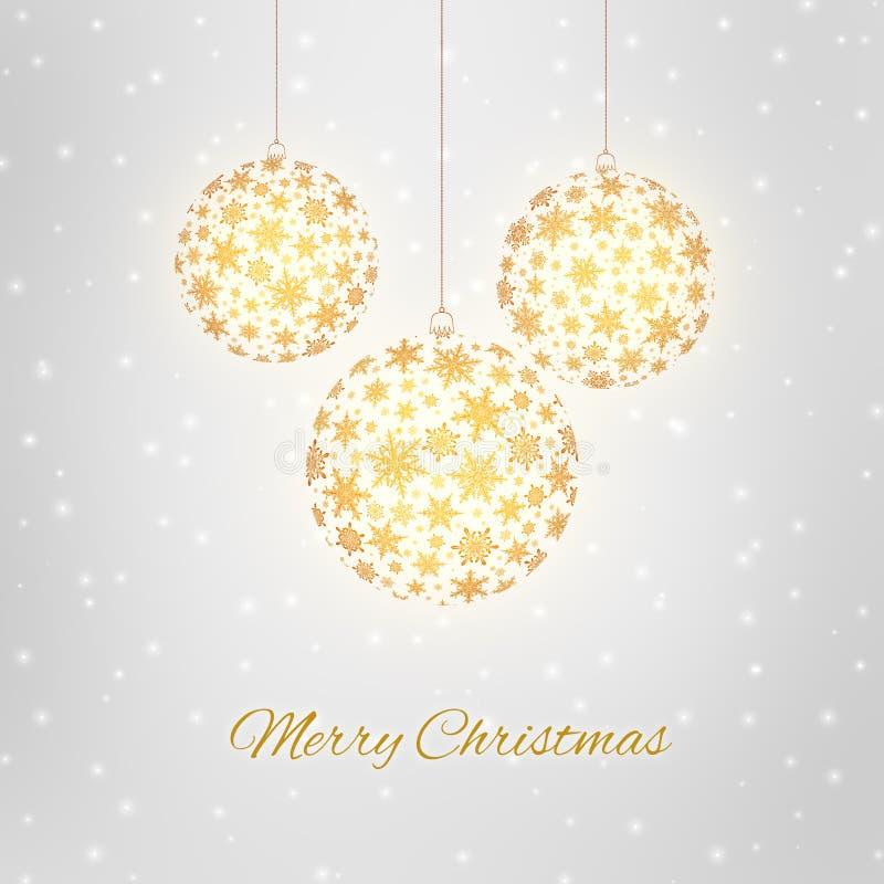 Cartolina d'auguri decorativa di Buon Natale immagini stock libere da diritti