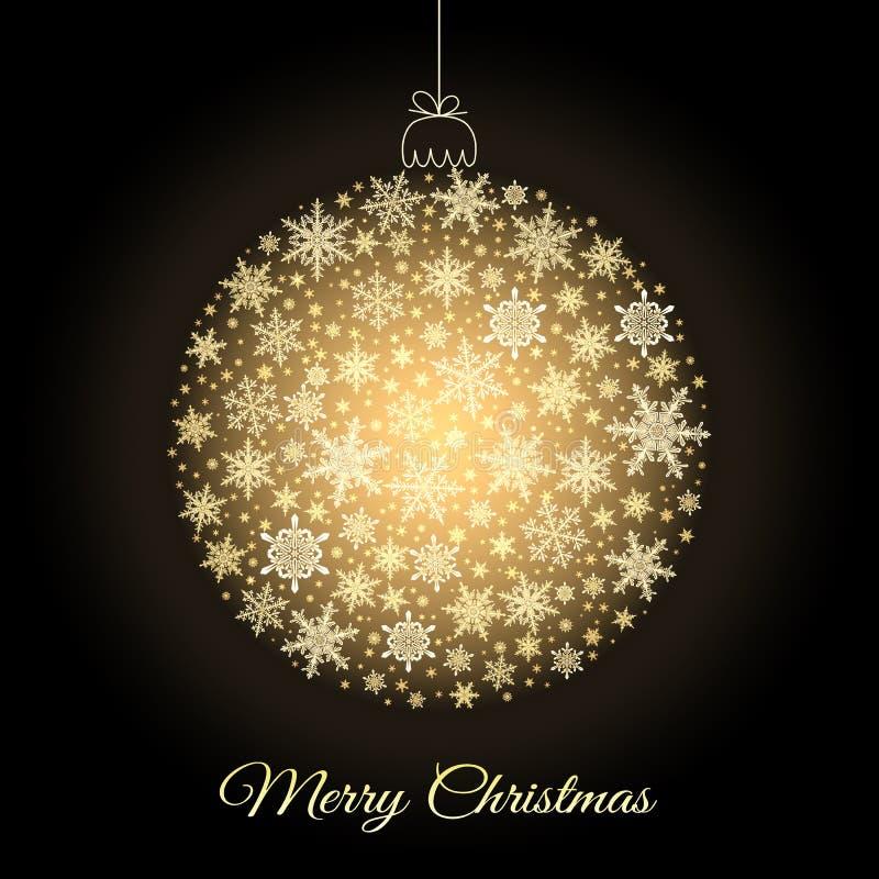 Cartolina d'auguri decorativa di Buon Natale fotografia stock