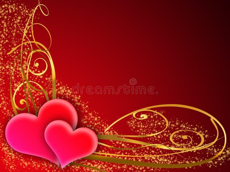 Cartolina d'auguri del biglietto di S. Valentino illustrazione vettoriale