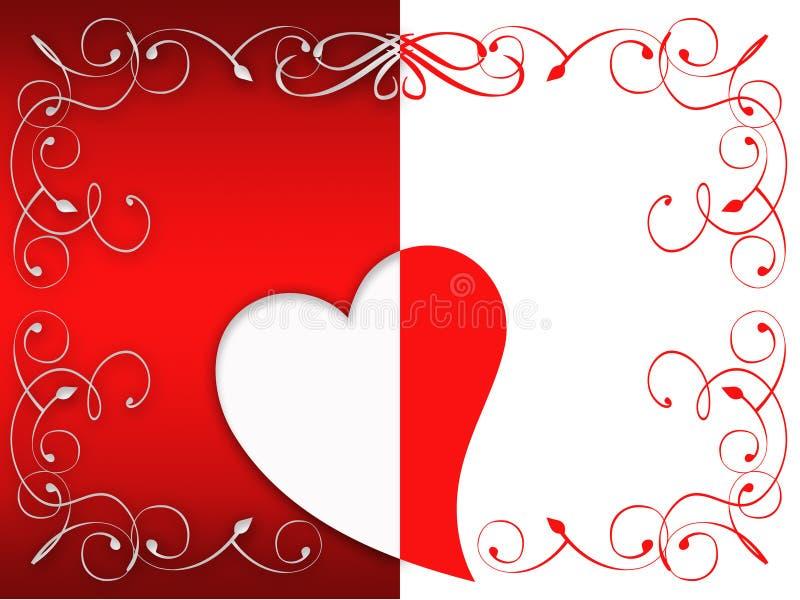 Cartolina d'auguri del biglietto di S. Valentino royalty illustrazione gratis