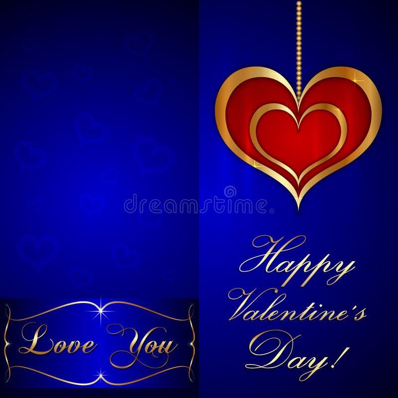 Cartolina d'auguri del biglietto di S. Valentino del san di vettore illustrazione vettoriale