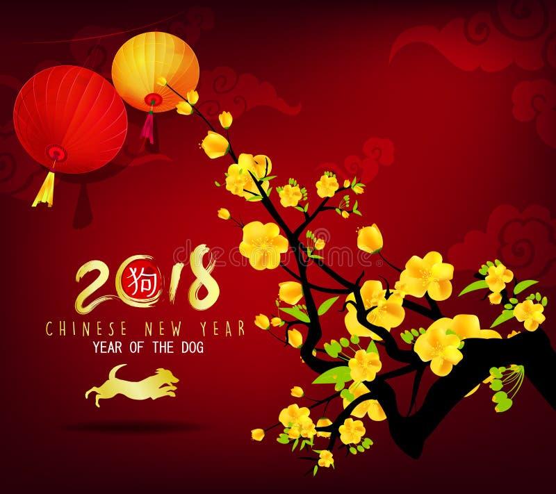 Cartolina d'auguri 2018 del buon anno royalty illustrazione gratis