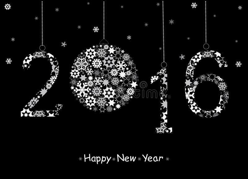 Cartolina d'auguri 2016 del buon anno royalty illustrazione gratis