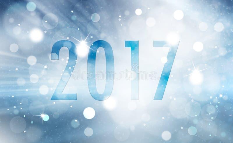 Cartolina d'auguri del buon anno illustrazione di stock