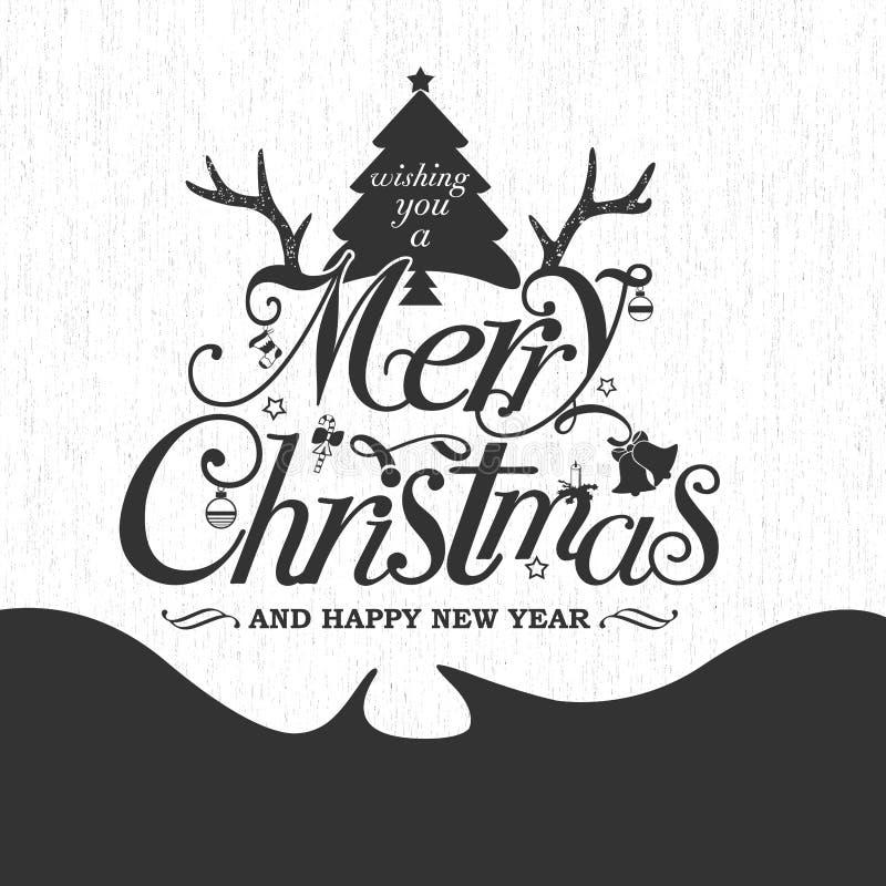 Cartolina d'auguri del buon anno royalty illustrazione gratis