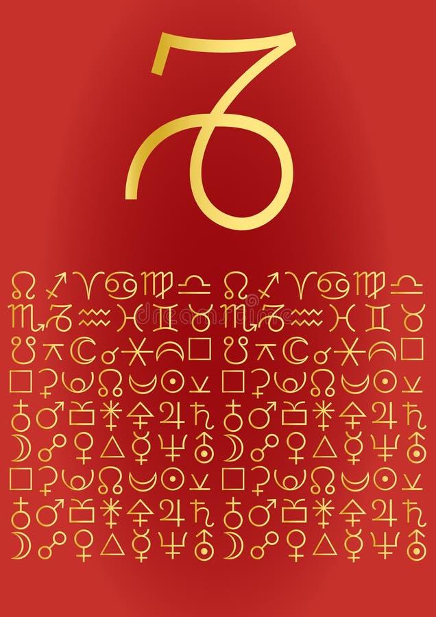 Cartolina d'auguri del Capricorn illustrazione di stock