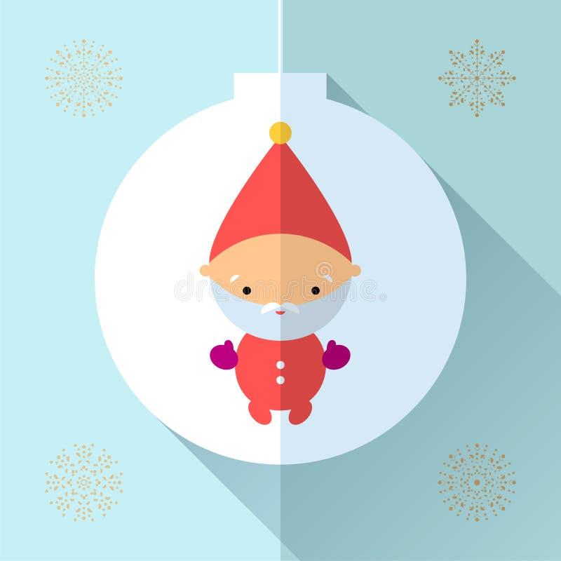 Cartolina d'auguri del giocattolo illustrazione di stock