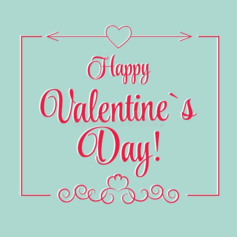 Cartolina d'auguri del giorno di S. Valentino della st di vettore in retro illustrazione di stock