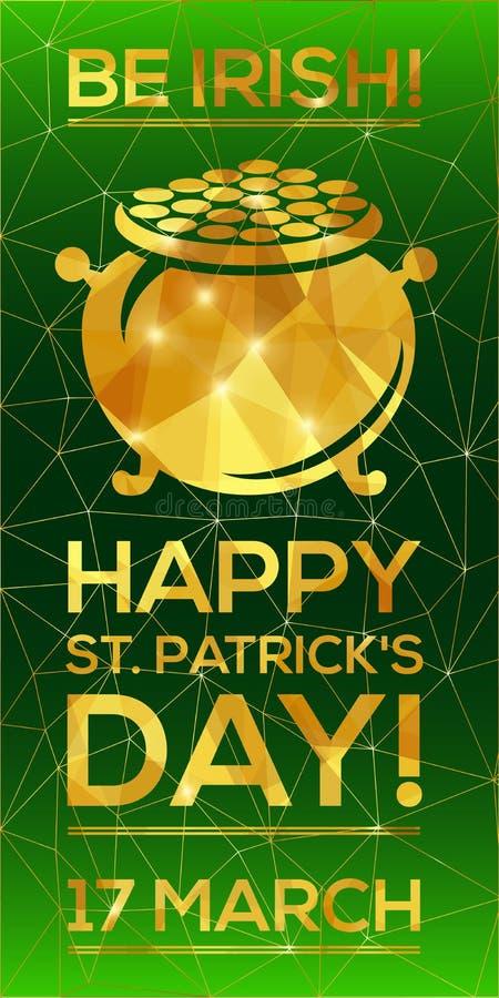 Cartolina d'auguri del giorno di St Patrick felice illustrazione vettoriale