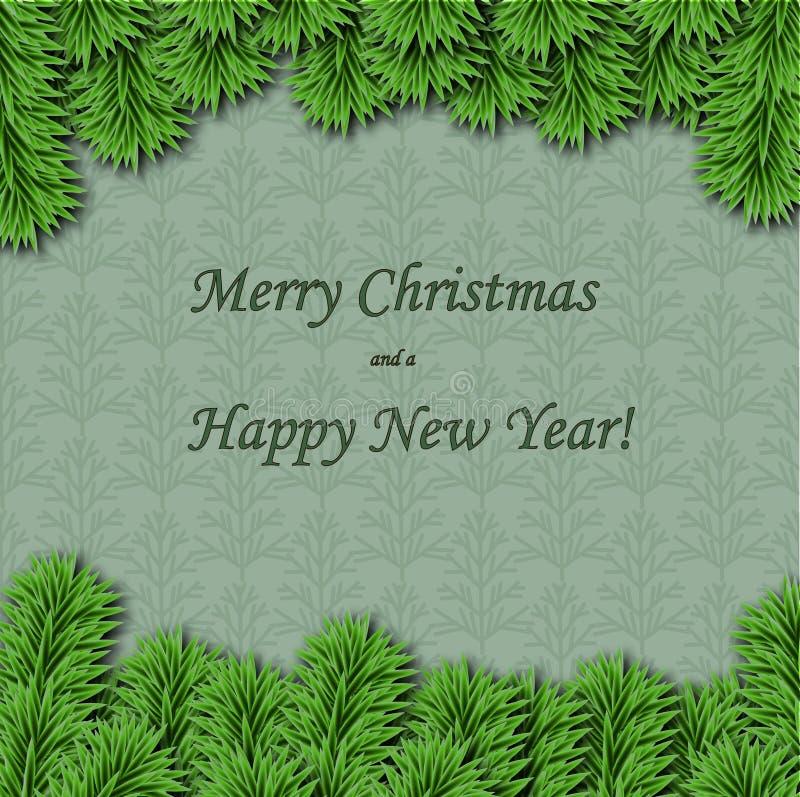 Cartolina d'auguri del nuovo anno e di Natale immagini stock