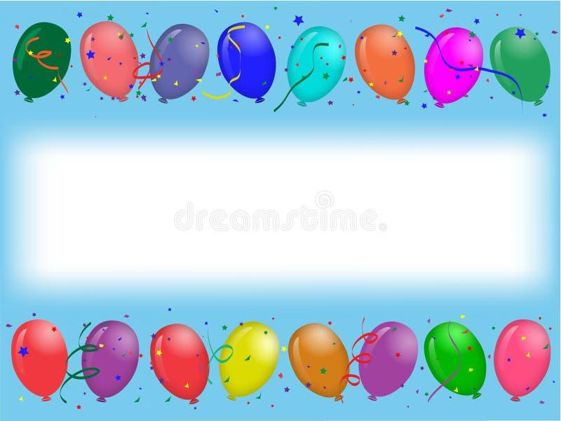 Cartolina d'auguri del partito con gli aerostati illustrazione vettoriale