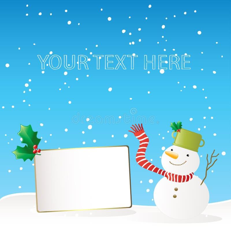 Download Cartolina D'auguri Del Pupazzo Di Neve Illustrazione Vettoriale - Illustrazione di background, divertente: 7308569