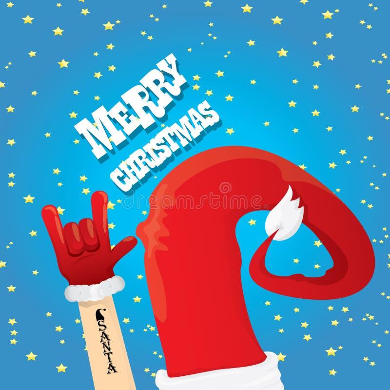 Cartolina d'auguri del rotolo della roccia n di Natale illustrazione di stock