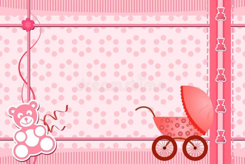 Cartolina d'auguri dell'acquazzone di bambino illustrazione vettoriale