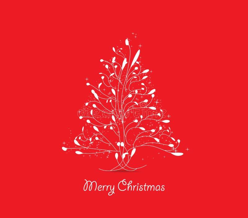 Cartolina d'auguri dell'albero di Natale royalty illustrazione gratis