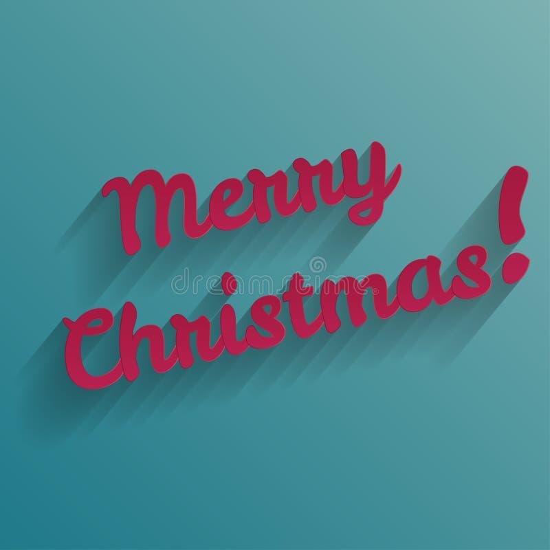 Cartolina d'auguri dell'iscrizione della mano di Buon Natale royalty illustrazione gratis