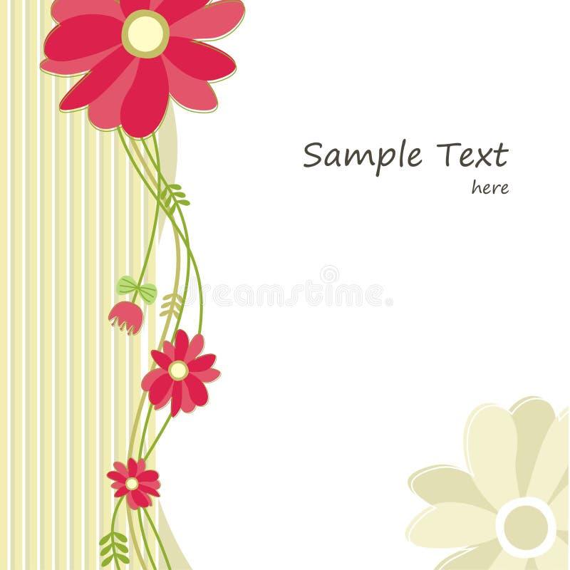 Cartolina d'auguri della primavera (2) fotografia stock