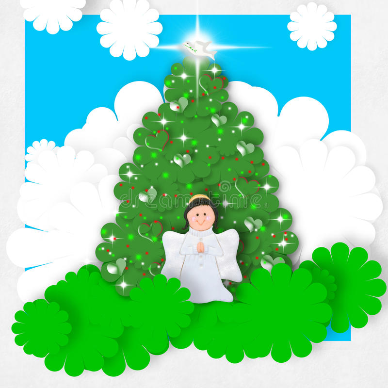 Cartolina d'auguri di Angel Christmas royalty illustrazione gratis