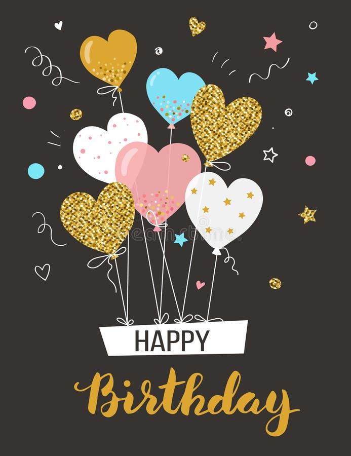 Cartolina d'auguri di buon compleanno royalty illustrazione gratis