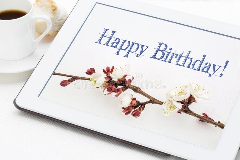 Cartolina d'auguri di buon compleanno immagini stock