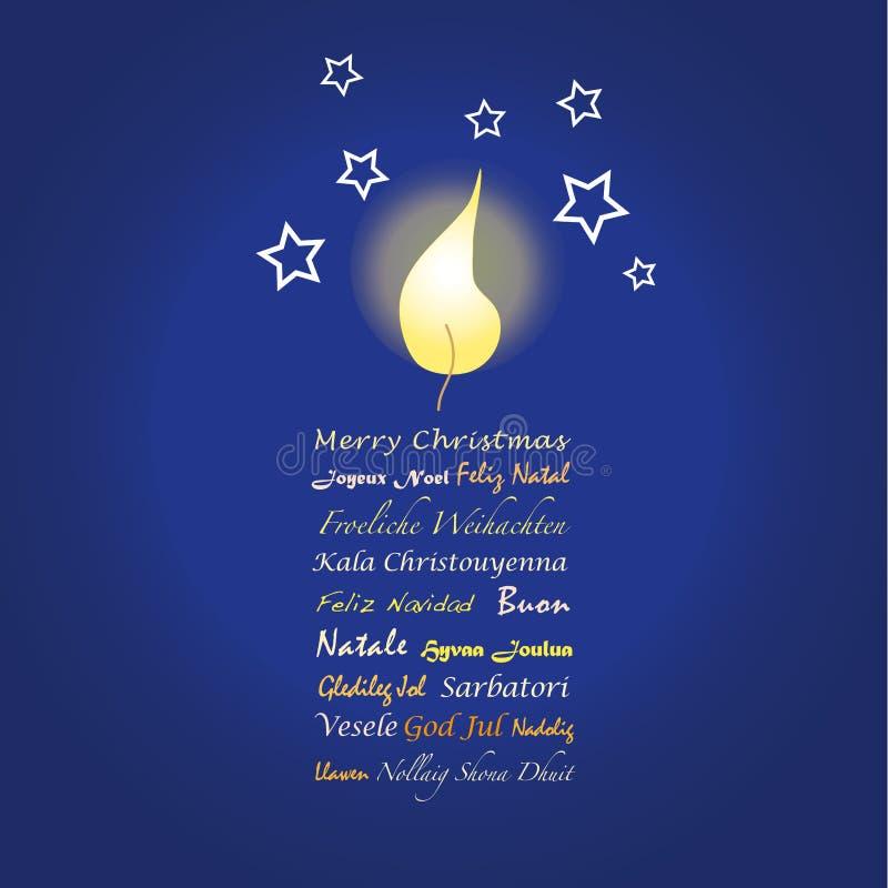 Cartolina d'auguri di Buon Natale illustrazione di stock