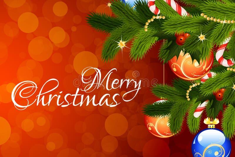 Cartolina d'auguri di Buon Natale illustrazione vettoriale