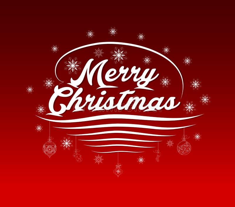 Cartolina d'auguri di Buon Natale, iscrizione royalty illustrazione gratis