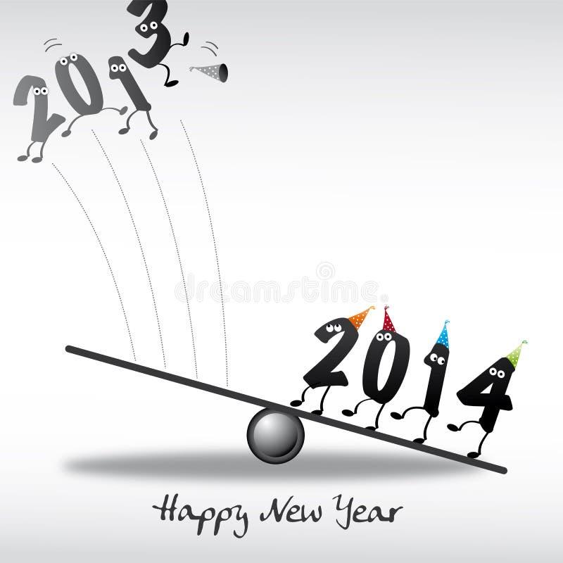 Cartolina d'auguri di 2014 buoni anni royalty illustrazione gratis