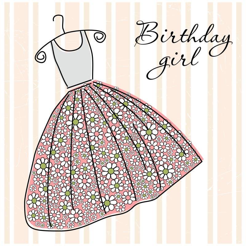 Cartolina d'auguri di compleanno royalty illustrazione gratis