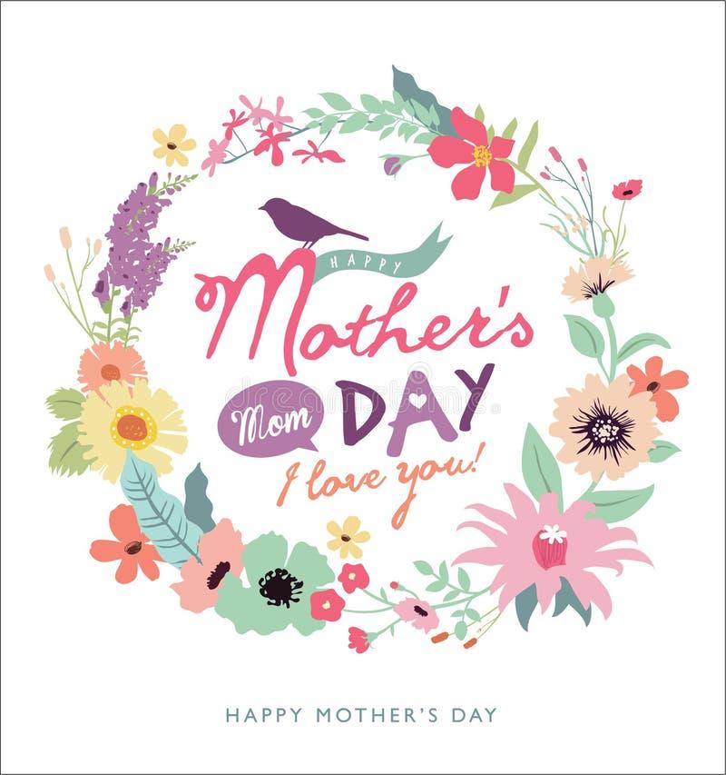 Cartolina d'auguri di giorno della madre royalty illustrazione gratis