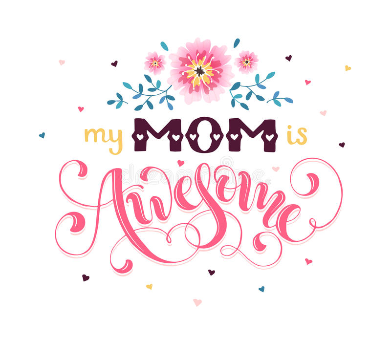 Cartolina d'auguri di giorno di madre royalty illustrazione gratis
