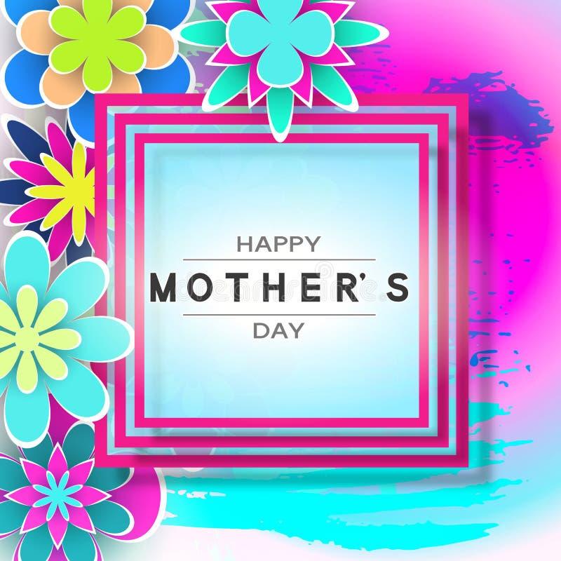 Cartolina d'auguri di giorno di Mother's illustrazione vettoriale