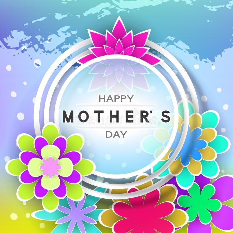 Cartolina d'auguri di giorno di Mother's illustrazione di stock