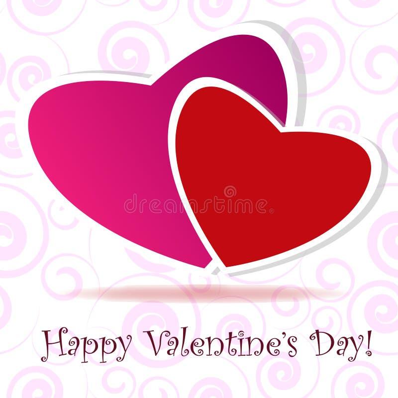 Cartolina d'auguri di giorno di S. Valentino fotografia stock libera da diritti