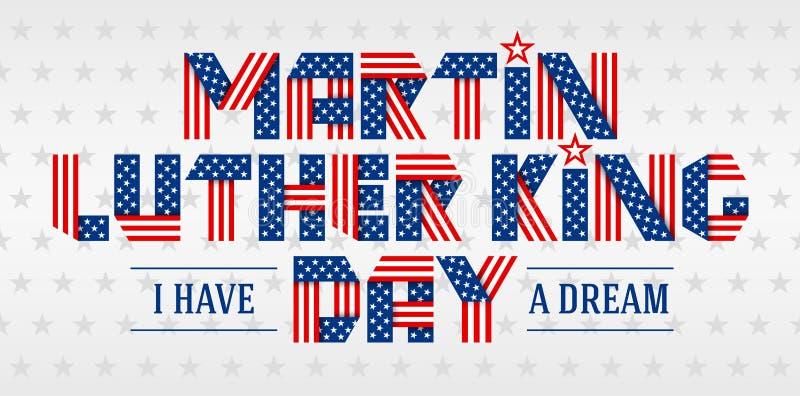 Cartolina d'auguri di giorno di Martin Luther King Illustrazione di vettore royalty illustrazione gratis