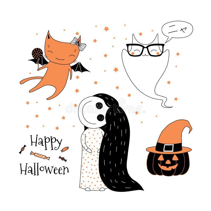 Cartolina d'auguri di Halloween illustrazione di stock