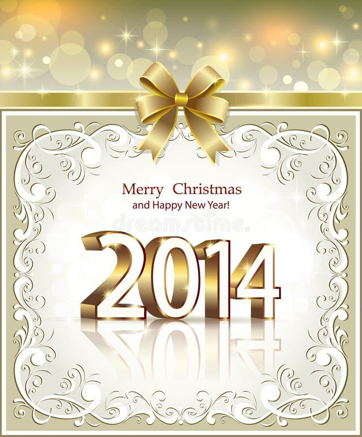 Cartolina D Auguri Di Natale 2014 Immagini Stock