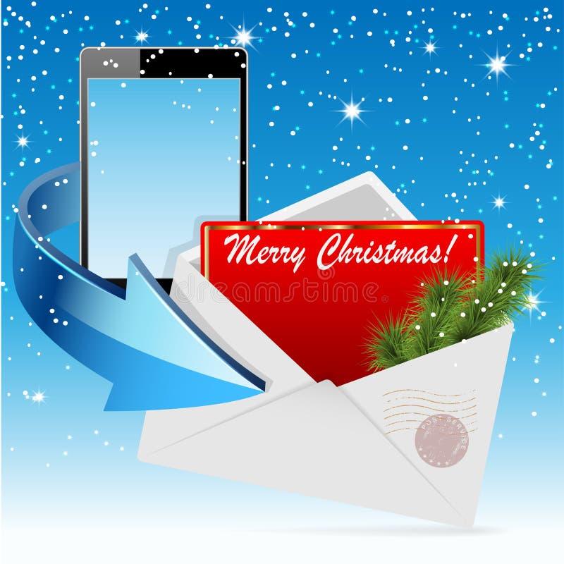 Cartolina d'auguri di Natale illustrazione di stock