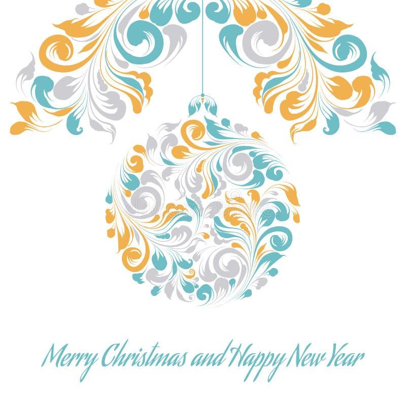 Cartolina d'auguri di Natale. illustrazione vettoriale