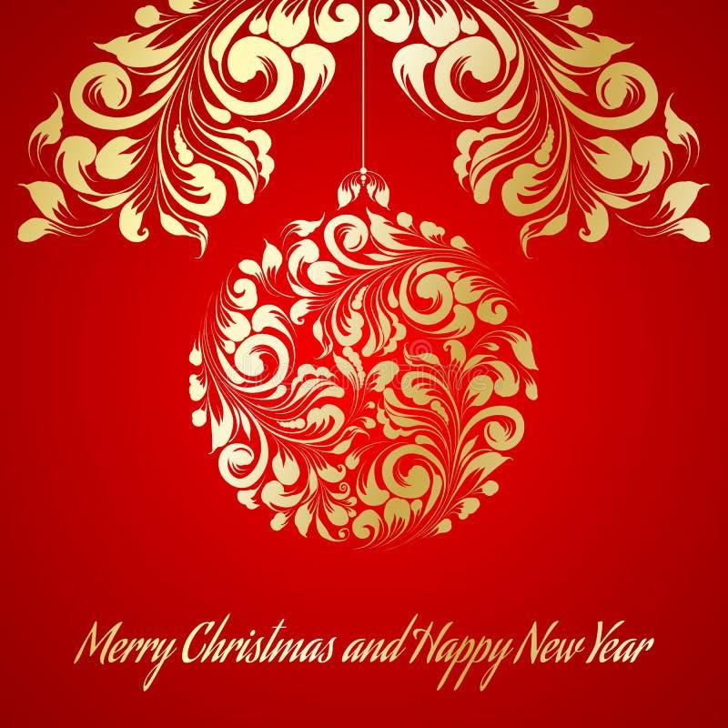 Cartolina d'auguri di Natale. royalty illustrazione gratis