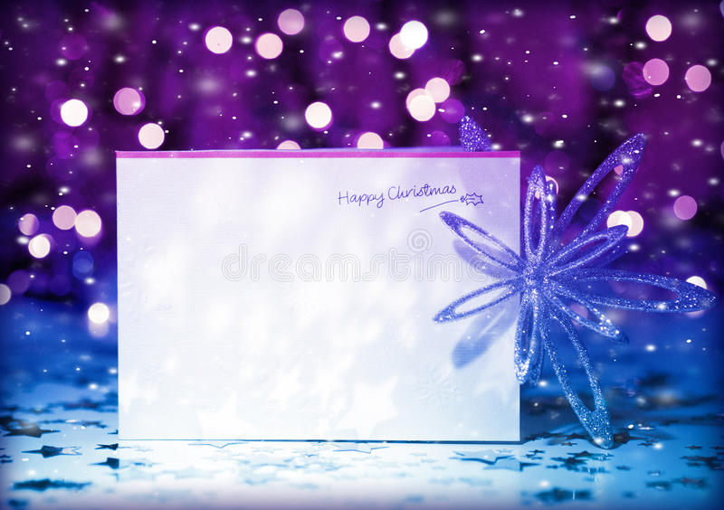 Cartolina d'auguri di Natale fotografia stock