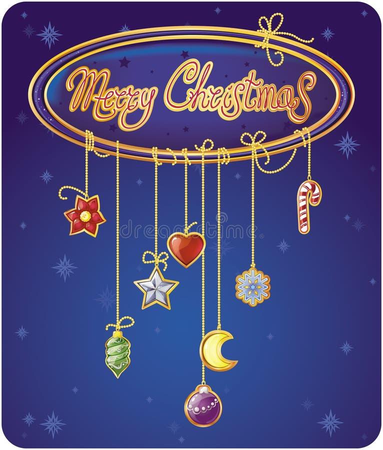 Download Cartolina D'auguri Di Natale Illustrazione di Stock - Illustrazione di cartolina, festa: 7323244