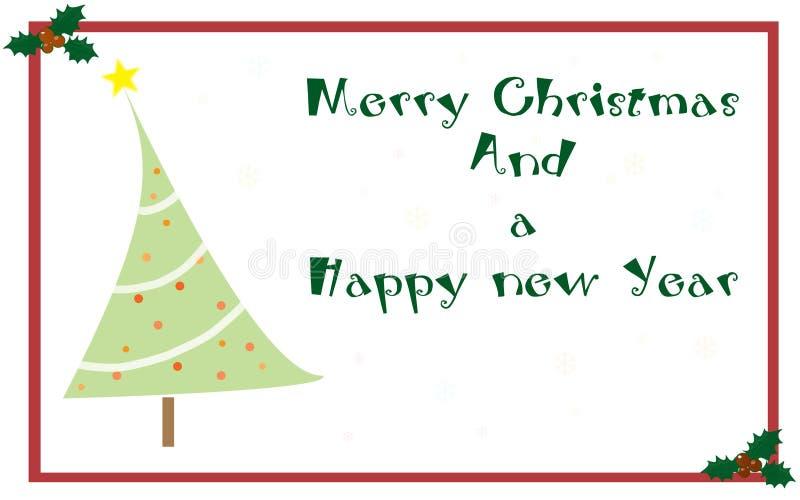 Cartolina D Auguri Di Natale Fotografia Stock
