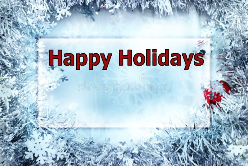 Cartolina d'auguri di Natale con scintillio del fiocco di neve immagine stock libera da diritti