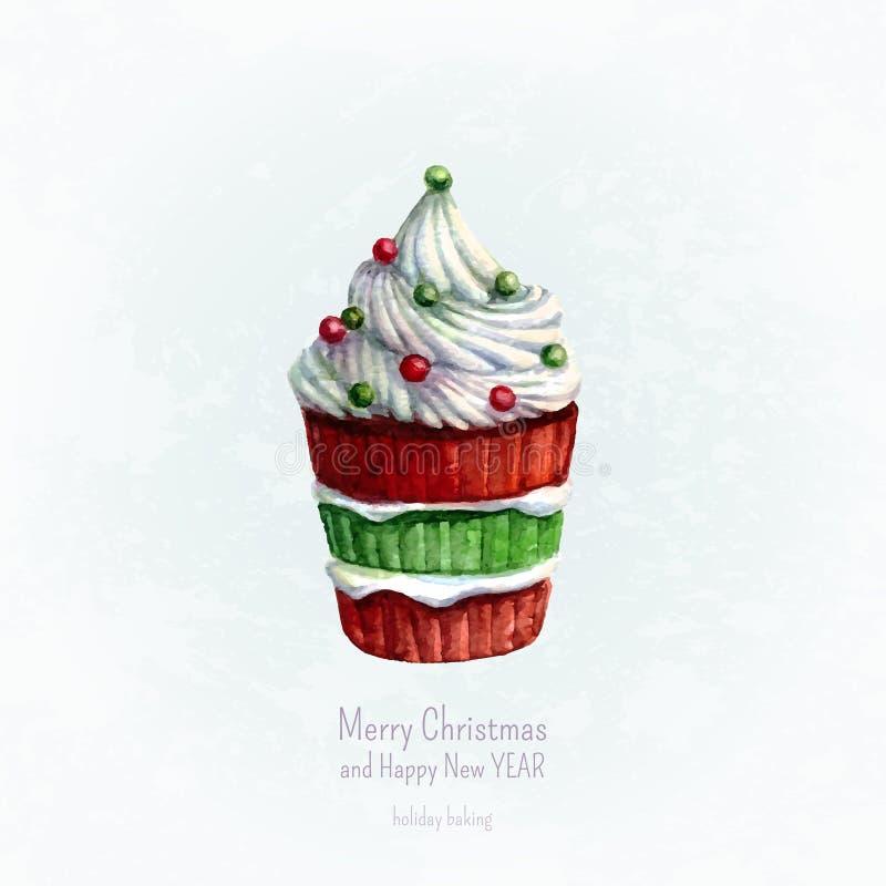 Cartolina d'auguri di Natale, cottura di natale royalty illustrazione gratis